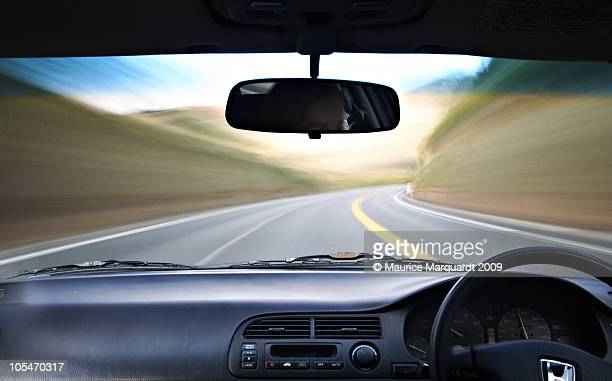 car in motion - vehicle interior stock pictures, royalty-free photos & images