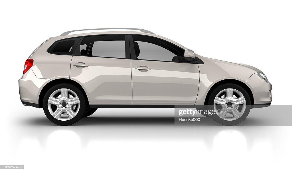 SUV automóvel em estúdio Isolado no branco : Foto de stock