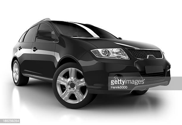 SUV in studio isolato con clipping path