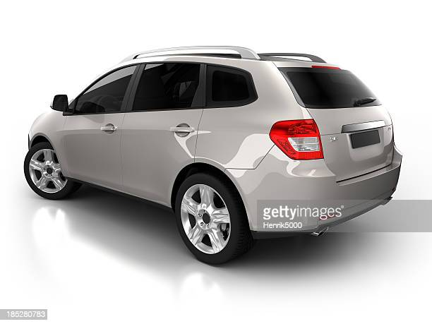 SUV Auto im studio isoliert mit clipping path