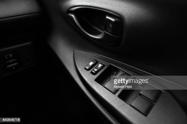 car interior door handle with window controls and adjustment - car decoration stock pictures, royalty-free photos & images