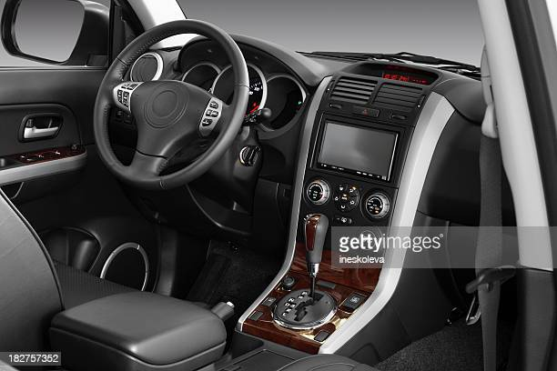car interior - steering wheel stock pictures, royalty-free photos & images