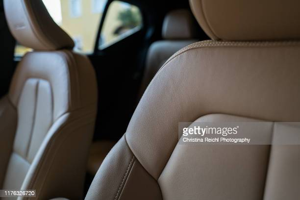 car interior shot - seat stock pictures, royalty-free photos & images