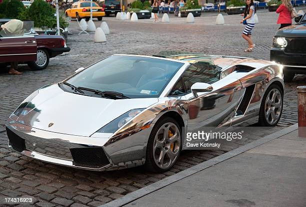 A car is displayed at the 'GThing' Series Premiere Party at The Griffin on July 23 2013 in New York City