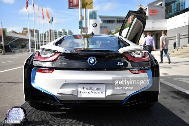 BMW car is displayed at the Vanity Fair New Establishment Summit at Yerba Buena Center for the Arts on October 6 2015 in San Francisco California