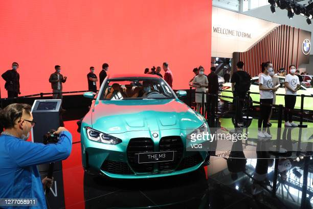 Car is on display during 2020 Beijing International Automotive Exhibition at China International Exhibition Center on September 27, 2020 in Beijing,...
