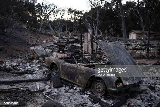 A car is seen destroyed by Woolsey Fire Woolsey Fire has burned 96949 acres of land and claimed around 435 structures in it's path leaving three...
