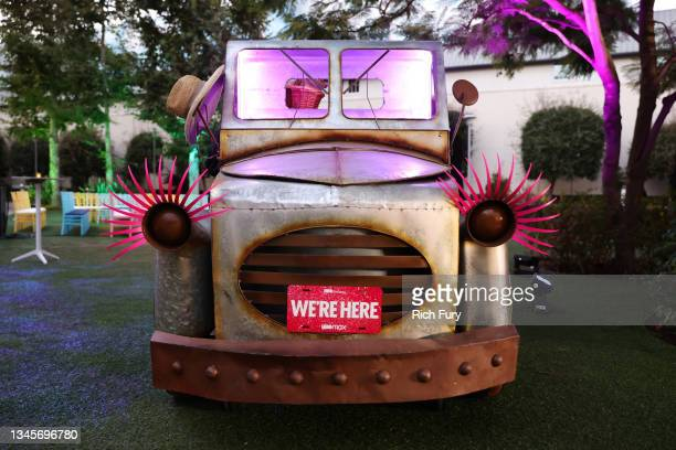 """Car is seen during the """"We're Here"""" Season 2 Premiere at Sony Pictures Studios on October 08, 2021 in Culver City, California."""