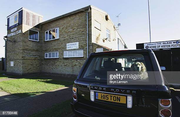 A car is seen parked outside Histon's ground The Bridge prior to the FA Cup match between Histon FC and Shrewsbury Town on November 12 2004 in...