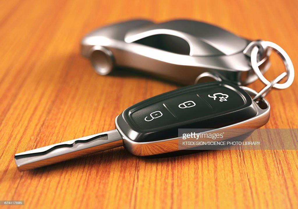 Car key and keying : Stock Photo