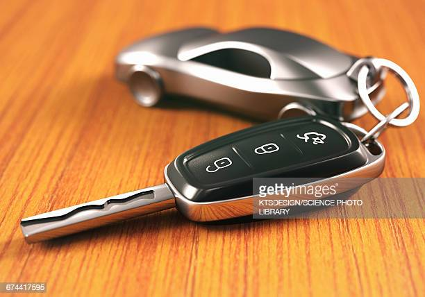car key and keying - key ring stock photos and pictures