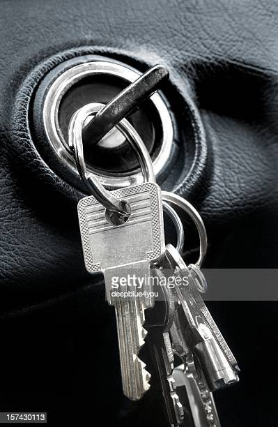 Autoschlüssel in der Zündung lock