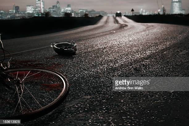 Car leaves the scene of a recent cycle accident