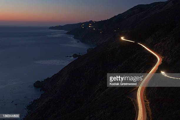 Car Lights on Pacific Coast Highway
