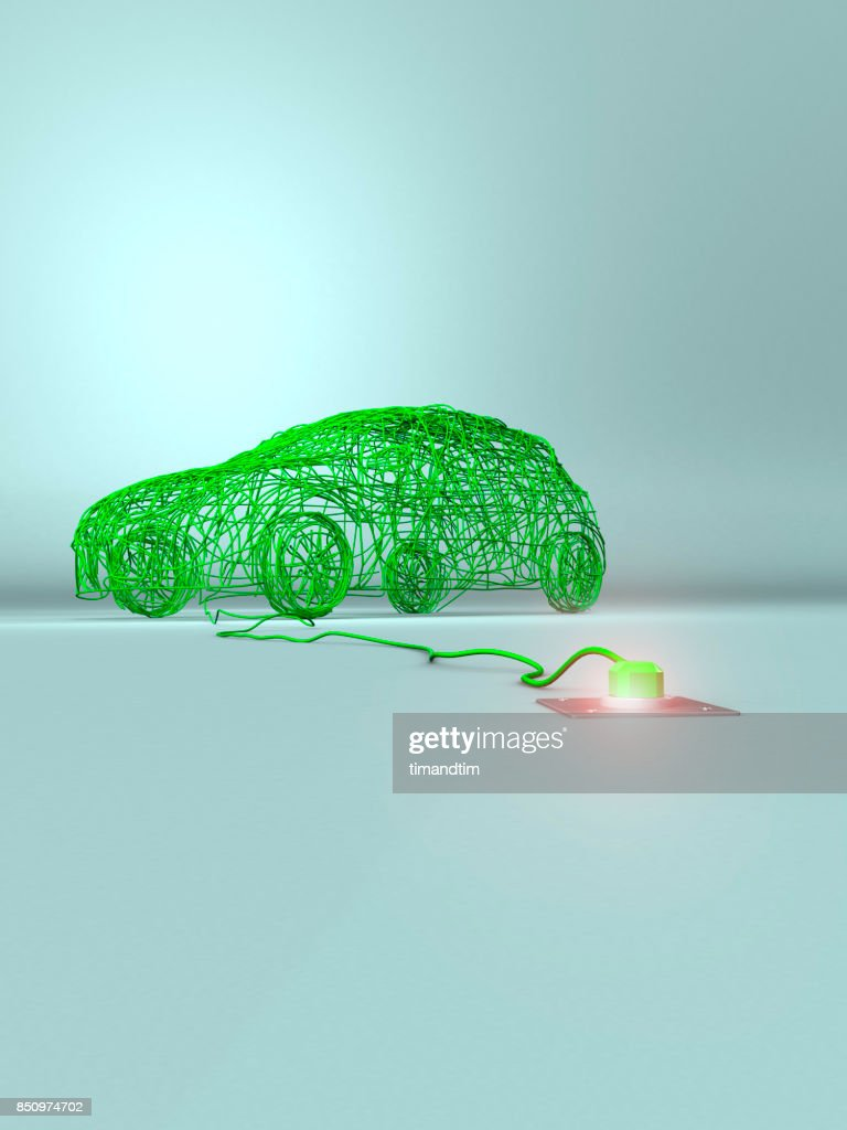 Car Made Of Green Wires In A Green Environment Stock Photo | Getty ...