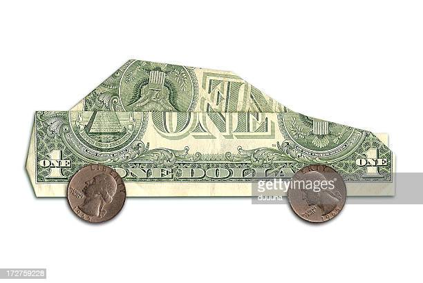 car made of us dollars