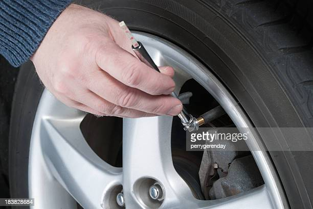 Car Maintenance - Check Tire Air Pressure