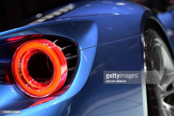 Car manufacturer Ford is displaying a Ford GT on a rotating platform at the Palexpo fairground a day prior to the official opening of the 85th Geneva...