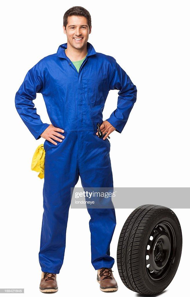 お車の整備とスペア Tire-絶縁型 : ストックフォト