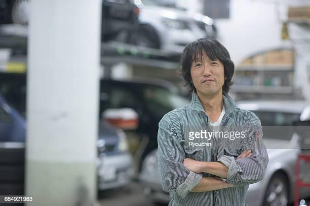 Car mechanic., Worker's portrait