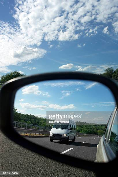 Car Mirror. Color Image
