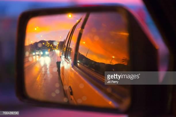 Car mirror reflections
