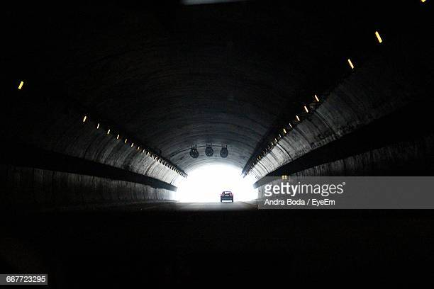Car Moving In Tunnel