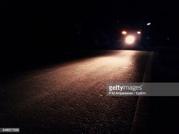Car Moving On Road At Night