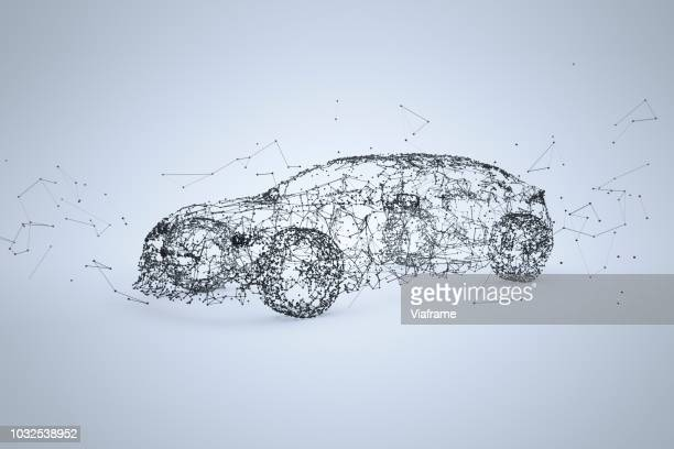 car network inverted - quer - driverless transport stock pictures, royalty-free photos & images