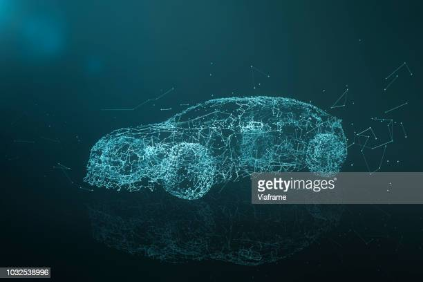 car network - quer - driverless car stock pictures, royalty-free photos & images