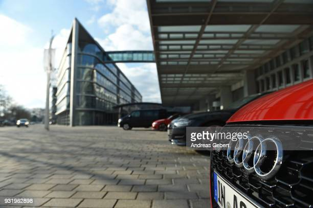 Car of the German car manufacturer Audi is parked in front of the Audi headquarters on March 14, 2018 in Ingolstadt, Germany. U.S. President Donald...