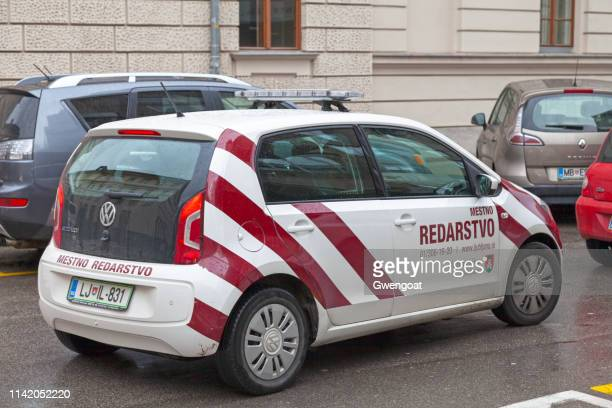 car of the mestno redarstvo (communal police) - gwengoat stock pictures, royalty-free photos & images