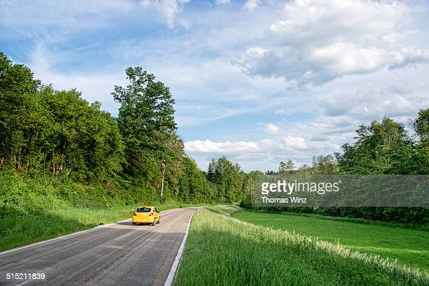 Car on a country road
