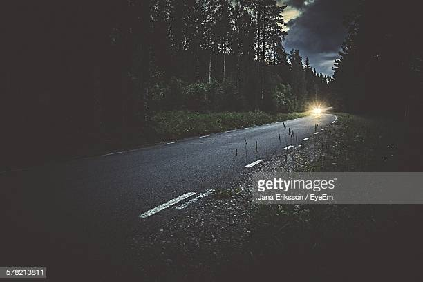 Car On Country Road At Night