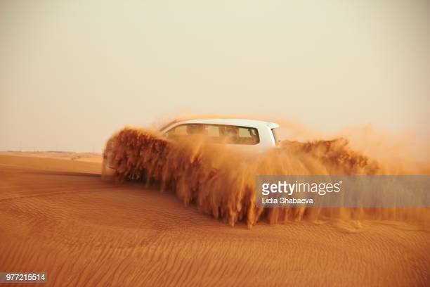 Car on desert, Dubai