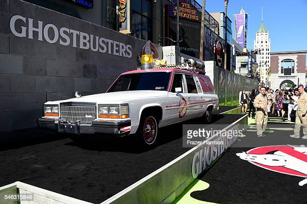 "Car on display at the Premiere of Sony Pictures' ""Ghostbusters"" at TCL Chinese Theatre on July 9, 2016 in Hollywood, California."
