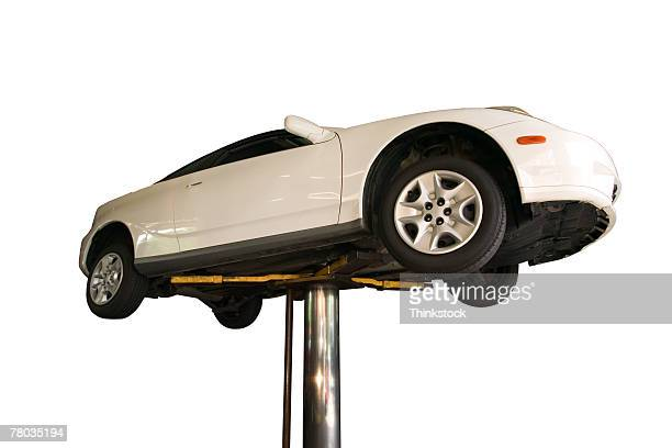 Car on lift