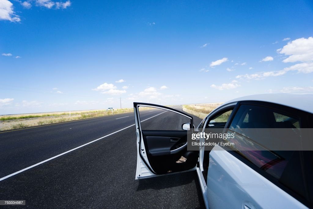 Car On Road Against Sky : Stock Photo