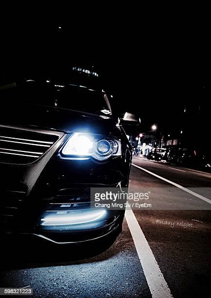 Car On Road At Night