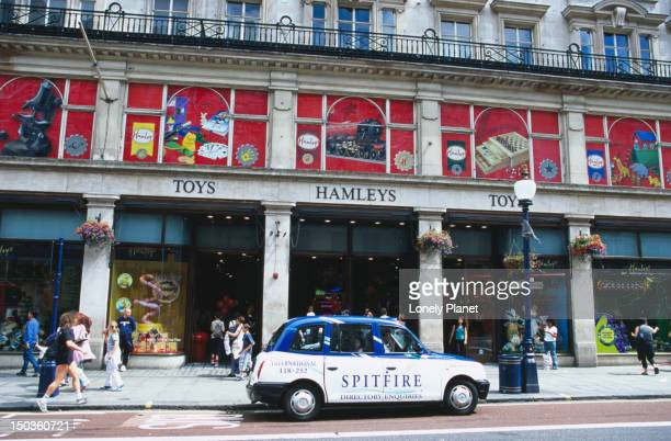 Car outside Hamleys Store in Regent Street.