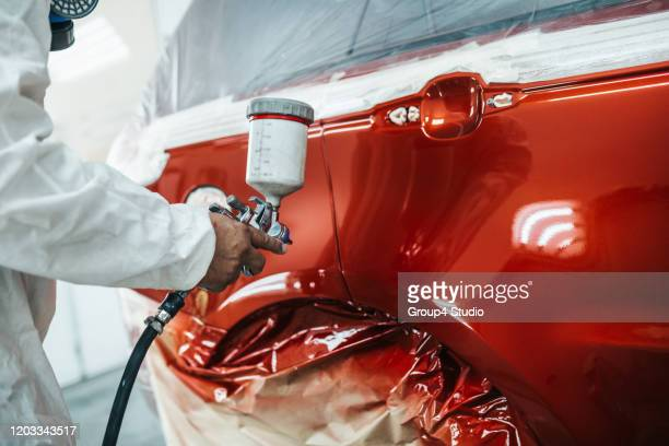 car painting - garage stock pictures, royalty-free photos & images