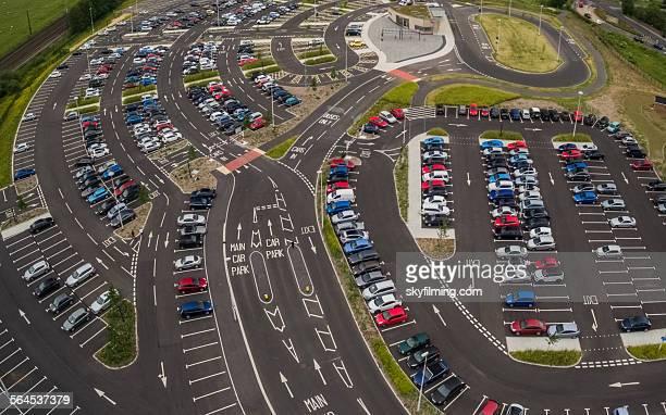 UK Car Park - Aerial Photograph - Park and Ride