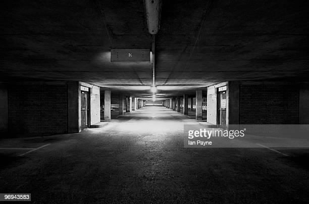 car park at night - parking garage stock pictures, royalty-free photos & images