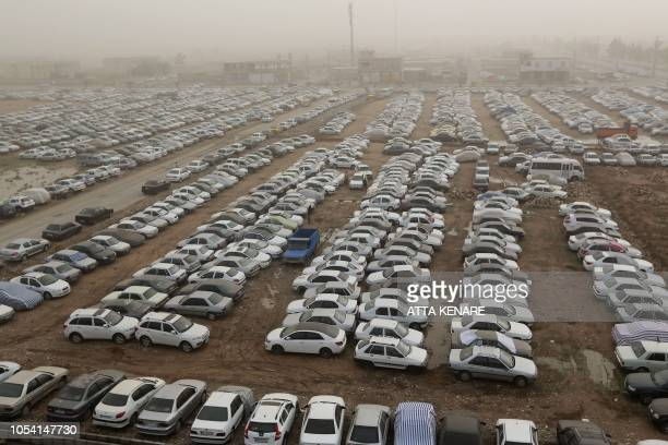 A car park is seen at the IranianIraqi Mehran border as Iranian Shiite Muslim pilgrims head towards the central Iraqi shrine city of Karbala on...