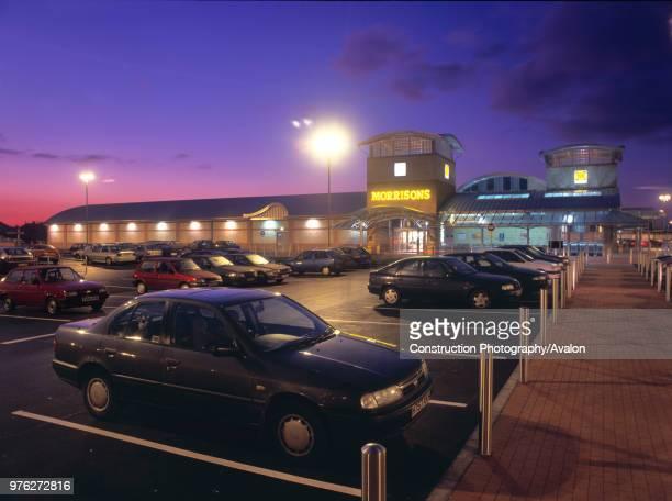 Car park outside Morrisons store Middlesbrough United Kingdom