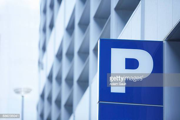 car park sign - letter p stock pictures, royalty-free photos & images