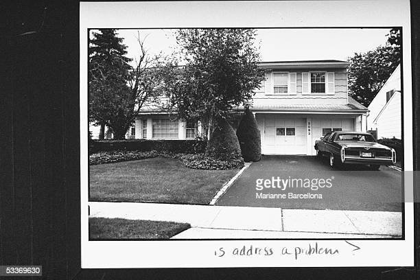Car parked in front of garage outside twostory home owned by Elliot Fisher father of 16yrold Amy Fisher who shot Mary Jo Buttafuoco in the head...