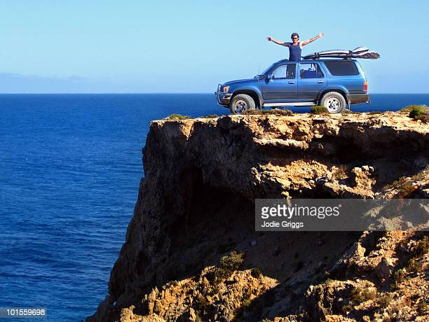 Car parked on Cliff