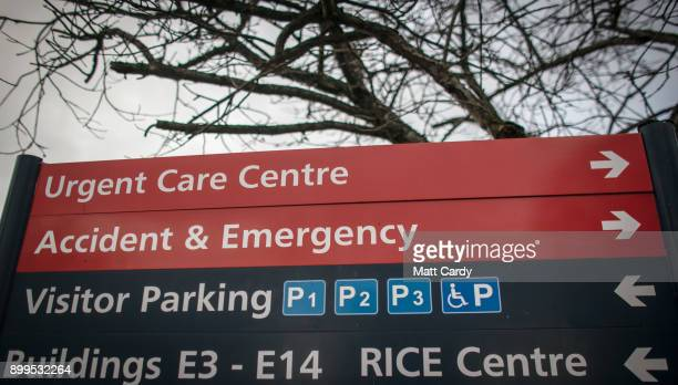 A car parking sign is picture in a car park at the Royal United Hospital on December 29 2017 in Bath England A recent Freedom of Information Act has...