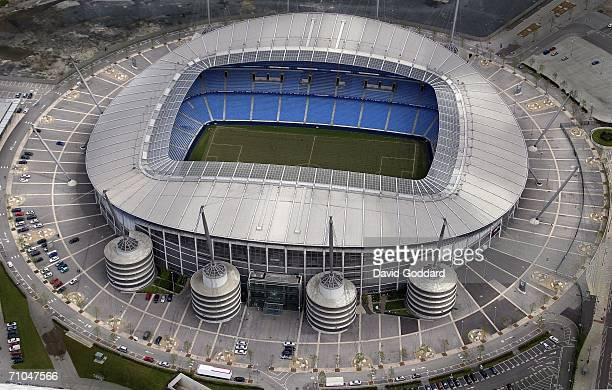 Car parking spaces surround the home of Manchester City Football Club the City of Manchester Stadium in this aerial photo taken on May 26 2005 above...
